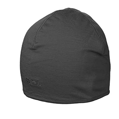 RAB MeCo 165 beanie - leichte und warme Mütze aus Merino-Mischgewebe - Farbe schwarz