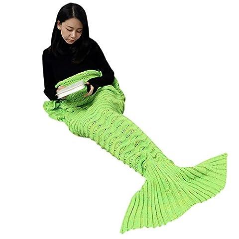 Meerjungfrau Schwanz/Strickmütze Meerjungfrau Decke Schwanz für Erwachsene, Super Weich und