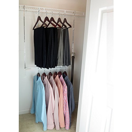 evelots-closet-doubler-hang-rodchrome-steel-organizer-space-saver