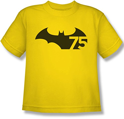 Batman - Jugend 75-Logo-T-Shirt, X-Large, Yellow (Batman-logo-jugend-t-shirt)