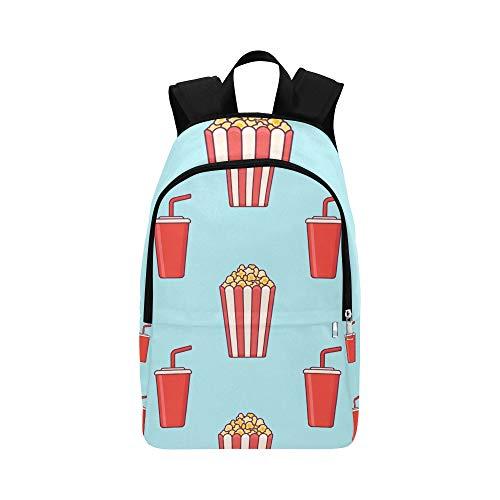 Sammlung von Popcorn handgezeichneten lässig Daypack Reisetasche College School Rucksack für Herren und Frauen