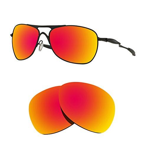 Littlebird4 Polarisierte Ersatzgläser für Oakley New Crosshair 2012, 1,5 mm, Verschiedene Optionen, Herren, Fire Red Mirror