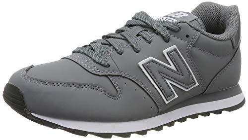 New Balance 500, Zapatillas para Mujer, Gris (Grey/White Grey/White), 39 EU