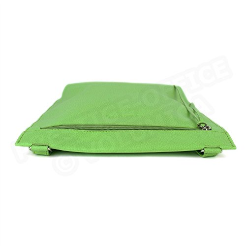 Besace modèle intermédiaire cuir Fabrication Luxe Française Vert