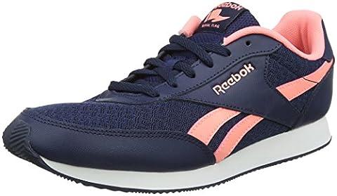 Reebok Damen Royal Classic Jogger 2 Sneaker, Blau (Collegiate Navy/Sour Melon/White), 40 EU