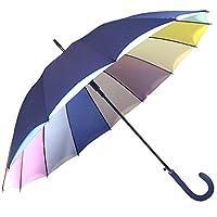 Chrysalin Blue Drop Double Canopy Automatic Umbrella Polyester Pastel Rainbow, 88cm, Navy