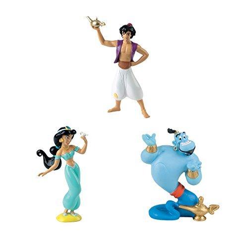 BULLYLAND DISNEY Aladdin figuren - 3er Set Figuren - Aladdin, Jasmin und die Genie - ideal für ()