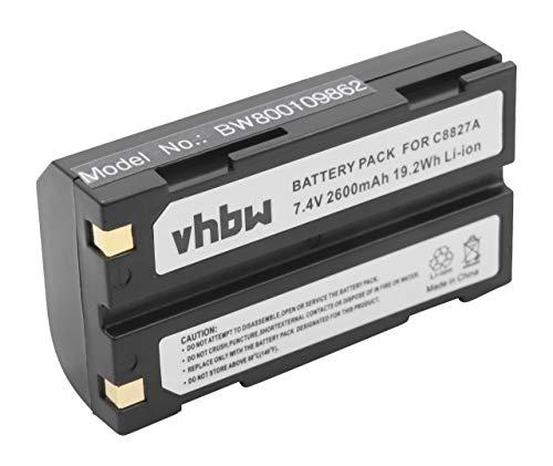 vhbw Li-Ion Akku 2600mAh (7.4V) für Barcodescanner Spectralink Epoch 35 wie D-Li1, C8872A. Spectralink Batterie Pack