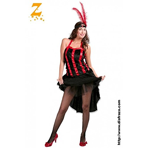 Kostüm Cabaret Burlesque - Sexy Burlesque Cabaret Girl Kostüm für Damen Gr. M/L, Größe:L