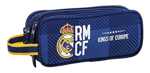 d4c387698 Real Madrid Estuche portatodo Triple (SAFTA 811724635), Color Azul &  Uacutenica