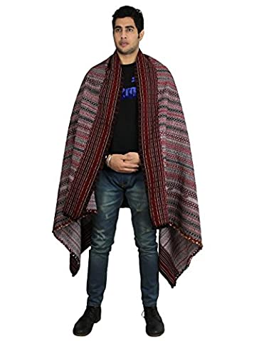 Embroidered Men's Accessory Woolen Handmade Shawl from India
