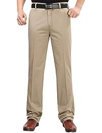 LvRao Pantalones Algodón Para Hombres Cool Formal Desgaste Del Negocio