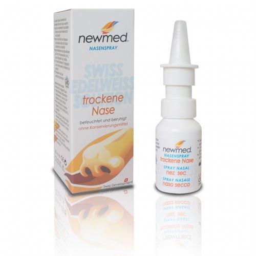 newmed Nasenspray 20ml - schonende Beruhigung & Befeuchtung der trockenen, gereizten Nase - mit Edelweissextrakt