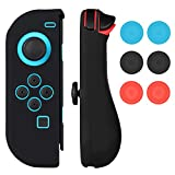 Nintendo Switch Joy-Con Gel Guard Silicon Hülle Case with Thumb Grips Caps Mothca Gel Skins Protective Left Blue Right Red Cover Anti-Slip Ergonomic Design Comfort Game Feeling