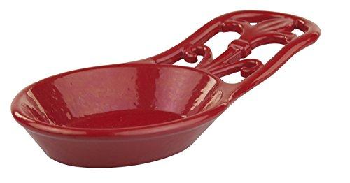 Home Basics Cast Iron Fleur De Lis Spoon Rest (Red) by Home Basics Cast Iron Spoon Rest