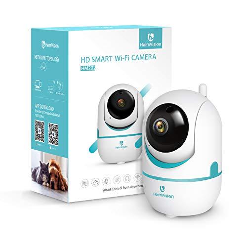 heimvision FHD 1080P HD Telecamera di Sorveglianza WiFi Interno, LED Wireless IP Camera, videocamera con Visione Notturna, Audio Bidirezionale, Rilevamento del Movimento e Allarme PTZ per casa