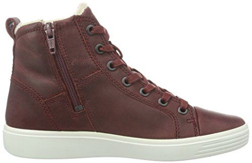Ecco S7 Teen, Sneakers Hautes Fille Rouge (PORT2028)
