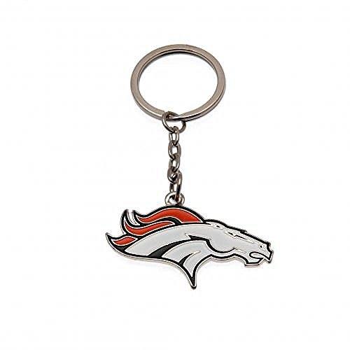 Schlüsselanhänger Denver Broncos, offizieller Fanartikel American Football, tolles Geschenk für verschiedene Anlässe und Personen (Football Karten Nfl)
