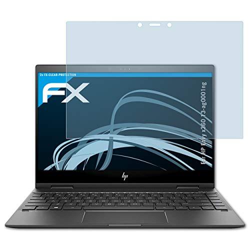 atFolix Schutzfolie kompatibel mit HP Envy x360 13-ag0001ng Folie, ultraklare FX Bildschirmschutzfolie (2X)
