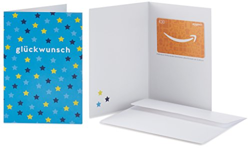Amazon.de Geschenkkarte in Grußkarte - 30 EUR (Glückwunsch Sterne)