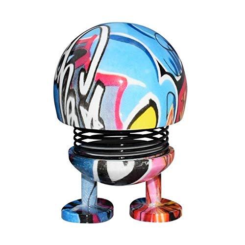 WDDqzf ornament Dekoration Statuen Spring Cute Smiley Puppe Auto Ornament Tanzen Tier Swinging Animierte Bobble Dancer Bounce Spielzeug Car Decor (B, 8X7X8Cm), I, 8X7X8Cm