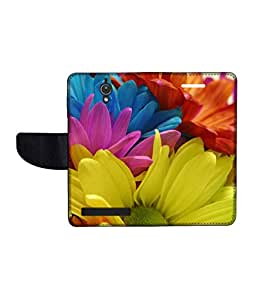 KolorEdge Printed Flip Cover For Asus Zenfone C Multicolor - (47KeMLogo10421ZenC)