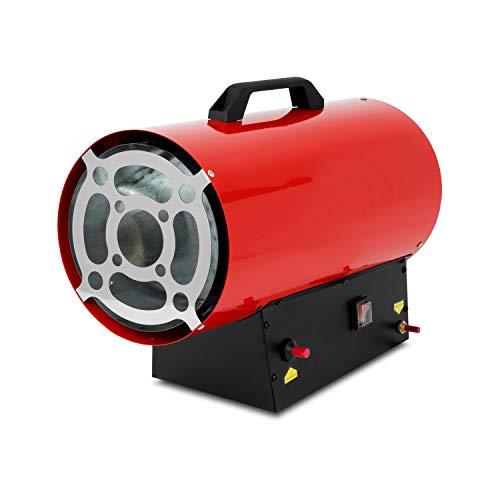 EBERTH 30kW Direkt-Gasheizgebläse (inkl. Gasschlauch und Druckregler für handelsübliche Propan- und Butangasflaschen, integrierter Überhitzungsschutz und Flammensicherung) -
