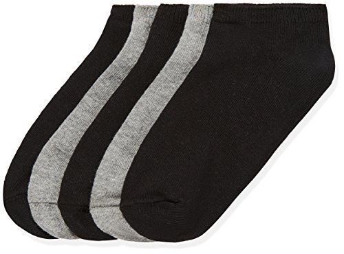 RED WAGON Girl's Grey/White Trainer Liners Ankle Socks 5-Pack