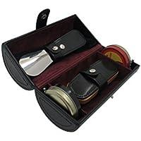 Cordays Deluxe Kit Cura delle Scarpe con la Spazzola, Calzascarpe, Panno per Pulire e Lucidare - Fatto a Mano in Pelle Europea