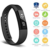 HolyHigh 115 Fitness Tracker Band for Men Women Kids Smart Fitness Watch with Pedometer Calories Burned Sleep Monitor Facebook Whatsapp Call Alarm Notifications