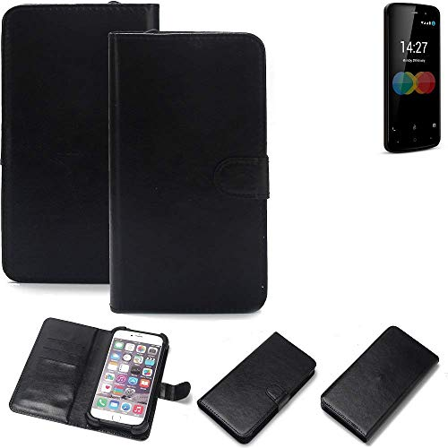 K-S-Trade 360° Wallet Case Handyhülle für Allview P6 eMagic Schutz Hülle Smartphone Flip Cover Flipstyle Tasche Schutzhülle Flipcover Slim Bumper schwarz, 1x