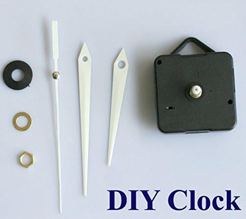Preisvergleich Produktbild DIY Reparatur Quarz Uhrwerk Quarzuhrwerk weiße Zeiger Zubehör / Ersatzteil Wanduhr