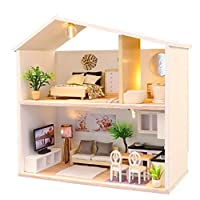 DIY Cottage Simple Hand-Assembled Model Set Creative Holiday Gift Doll House Toys Home Decoration Window Display Ornaments 21X32X5Cm
