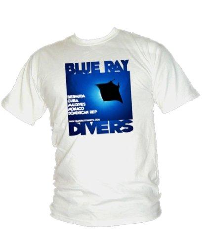 Blue Ray T-Shirts Herren T-Shirt Blanc - Blanc
