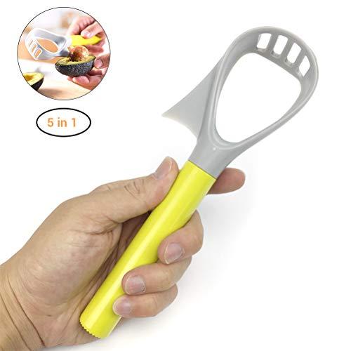 5 in 1 avocado slicer ritter core remover fruit tool plastica vegetale schiacciapatate accessori/avocado peeler avocado slicer cutter safe taglierina per avocado in acciaio inossidabile