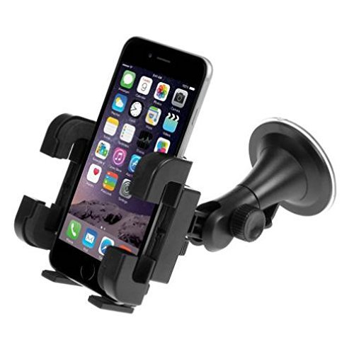 ANSEWIRELESS Universal Car Mount Windshield Holder Rotating Cradle Window Swivel Dock Suction Multi Point Rotation for Consumer Cellular Doro Doro 824 SmartEasy - Consumer Cellular Doro PhoneEasy 626