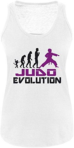 EZYshirt® Judo Evolution Damen Tanktop Weiss/Schwarz/Violett