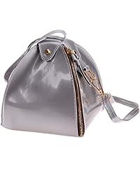 Rrimin Stylish PU Leather Women Lantern Bag Candy Color Shoulder Bag Crossbody Bag