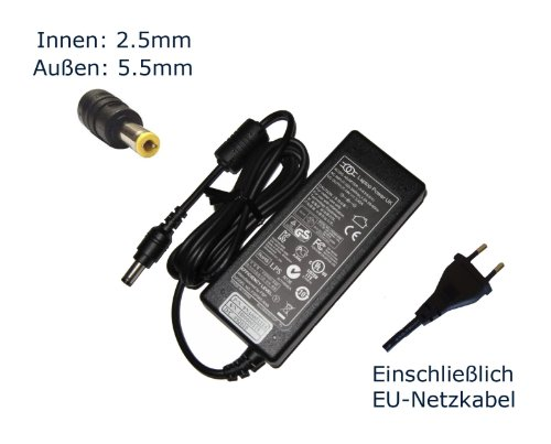 """Preisvergleich Produktbild Netzteil für WIM 2040, MD 95625 19V 3.4A 65W Notebook Laptop Ladegerät Aufladegerät, Charger, AC Adapter, Stromversorgung kompatibles Ersatz (Einschließlich kostenlosem EU-Netzkabel) - """"Laptop Power"""" gebrandmarkt"""