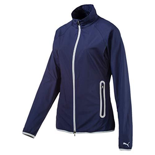 Puma Damen W Full Zip Wind Jacket Windbreaker Peacoat XS