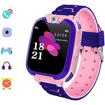 Winnes Reloj Inteligente para Niña, Niño La Musica y 7 Juegos Smart Watch Phone, 2 Vías Llamada Despertador de Cámara para Reloj Niño y Niña 3-12 años ...