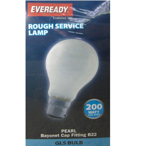 Eveready  ERROUGLS200BCP Bayonet Light Bulbs, Glass, White, B22, 200 W, Pack of 10