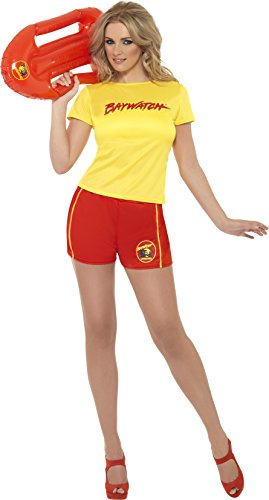 Ladies Baywatch Top and Shorts Costume. S, M, L