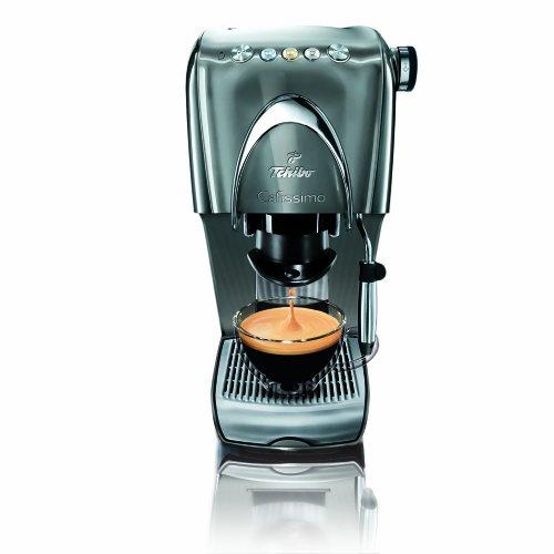 Tchibo Cafissimo Classic Kapselmaschine (die Kaffeemaschine für aromatischen Filter-Kaffee, Espresso, Caffé Crema oder Tee) silber
