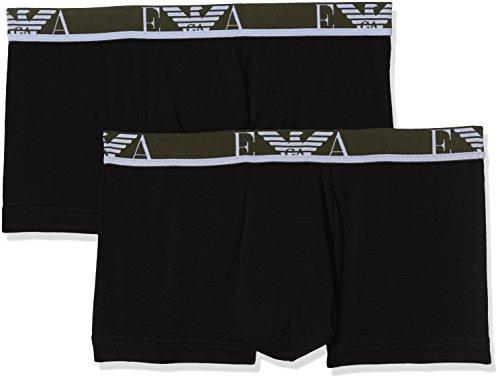 Emporio Armani Underwear Herren Boxershorts 1112107A715, Mehrfarbig (Nero 07320), Medium (Unterwäsche Armani Männer Emporio)