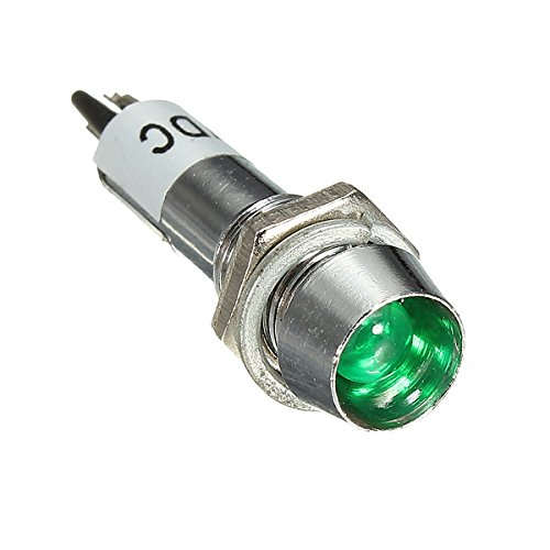 YONGYAO 8 Mm 12V LED Tableau De Bord Indicateur D'Avertissement Lampe De Signalisation-Vert