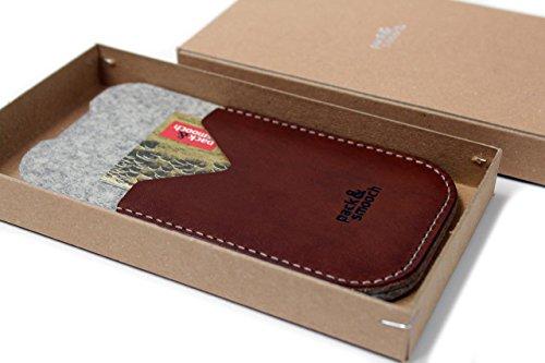 Pack smooch & 6s/iPhone 6 d'apple leather case étui kirkby «» 100 %  laine mérinos cuir tannage végétal