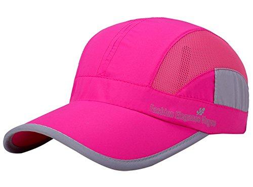 AIVTALK Unisex Bindung Mesh Baseball Cap Running Golf Sports Sun Hüte Quick Dry Leicht Ultra dünn-Licht Baseball Hat, Damen Mädchen Jungen Herren, Rose, Einheitsgröße -