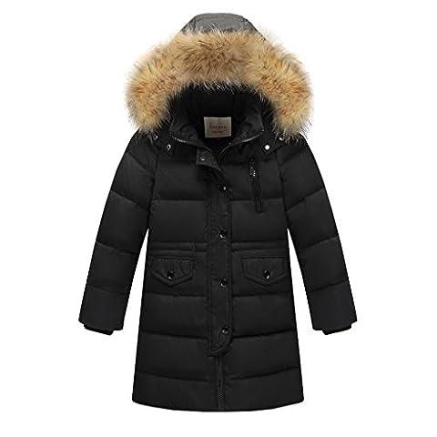 Kinder Winterjacke,ACMEDE Mädchen Jungen Daunenjacke Steppjacke Wintermantel mit Kapuze und Pelzkragen Modell