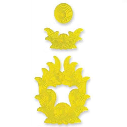 PME 112SP010 JEM Ausstecher für Oberteil und Seiten Einer Hochzeitstorte, Sortiment, 3-teilig, Kunststoff, Ivory, 18 x 1 x 28 cm